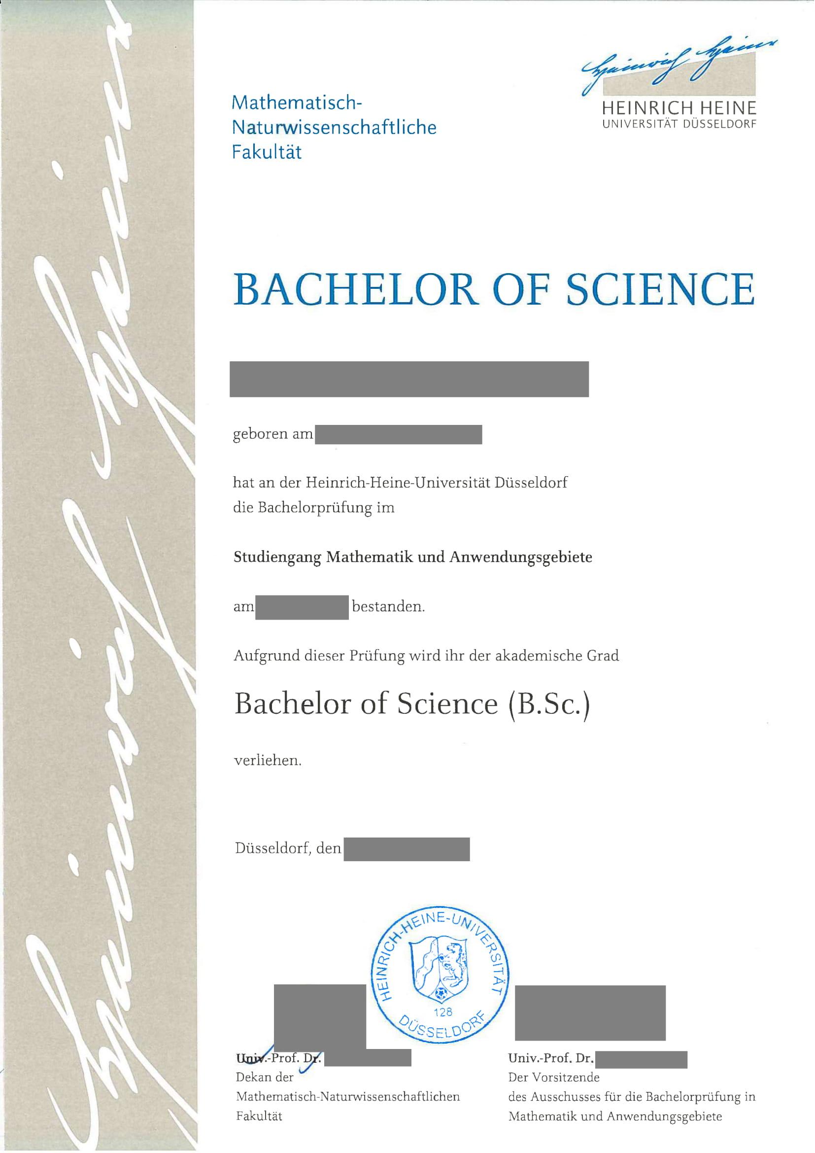 Beglaubigte Übersetzung Bachelor-1