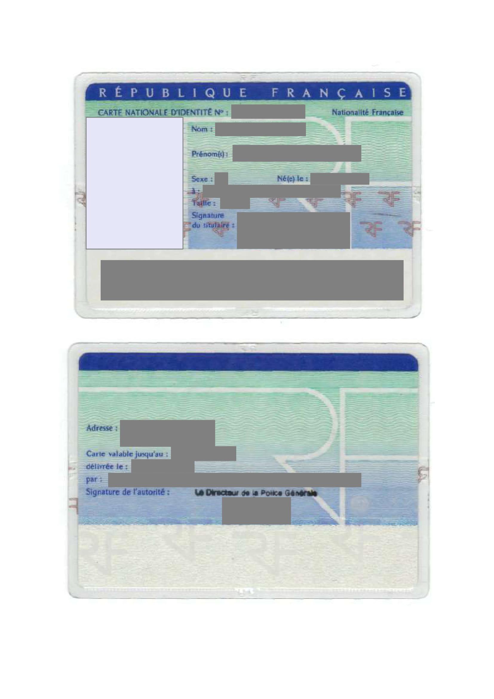 Traduction certifiée carte d'identité CNI-1