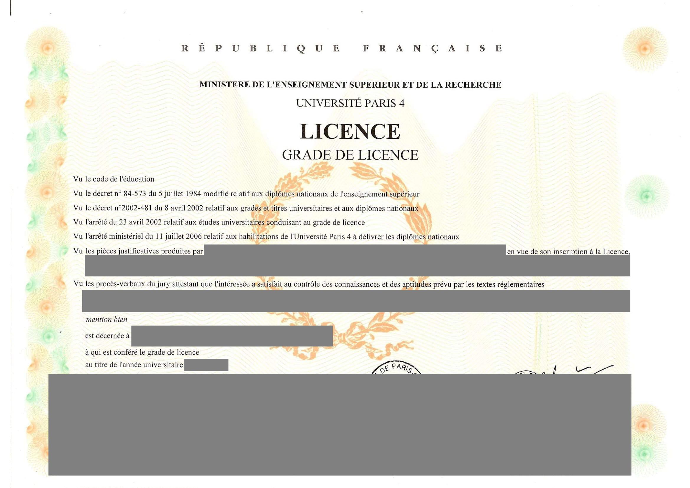 Traduction certifiée Licence-1