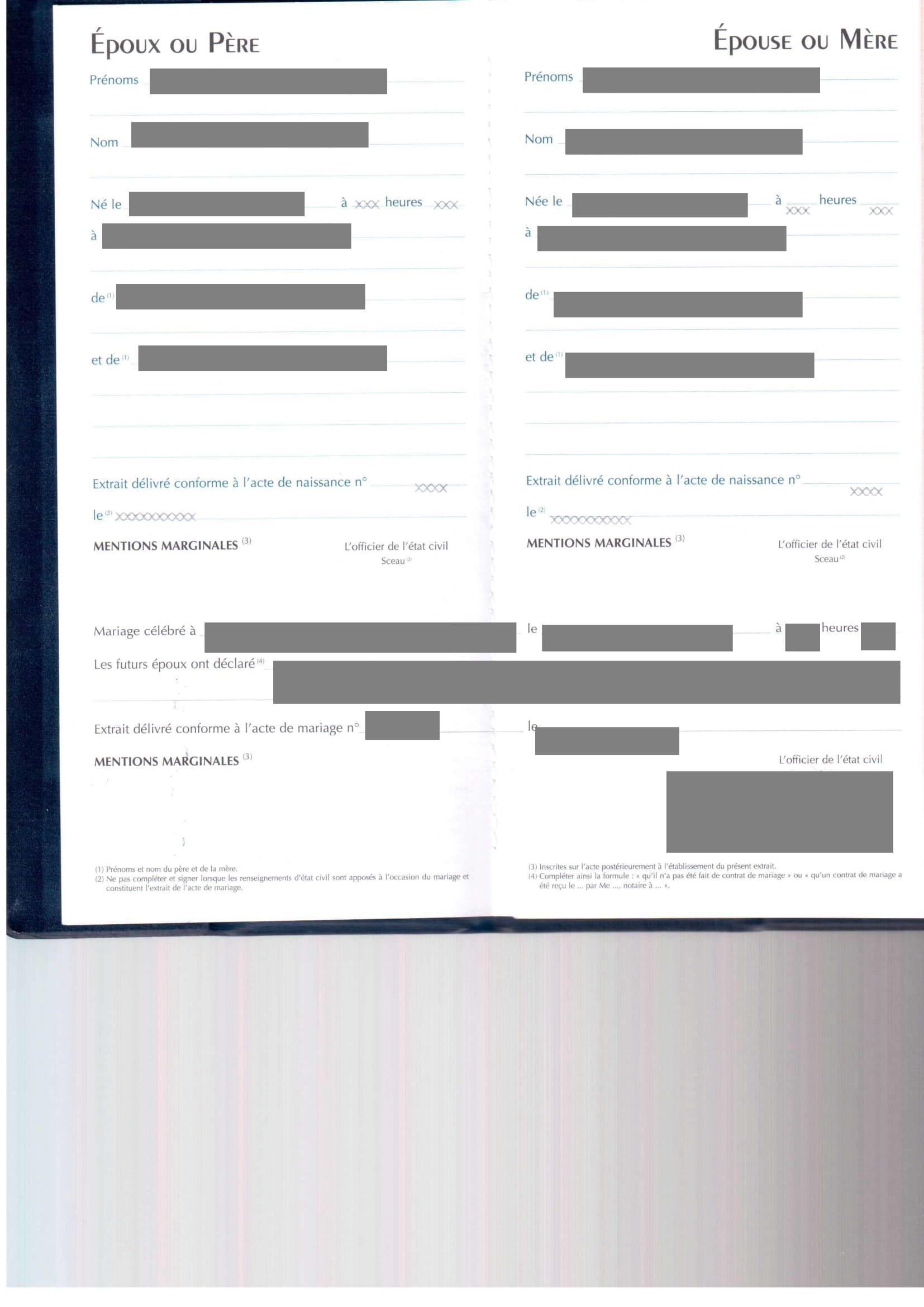 Traduction certifiée Livret de famille-1